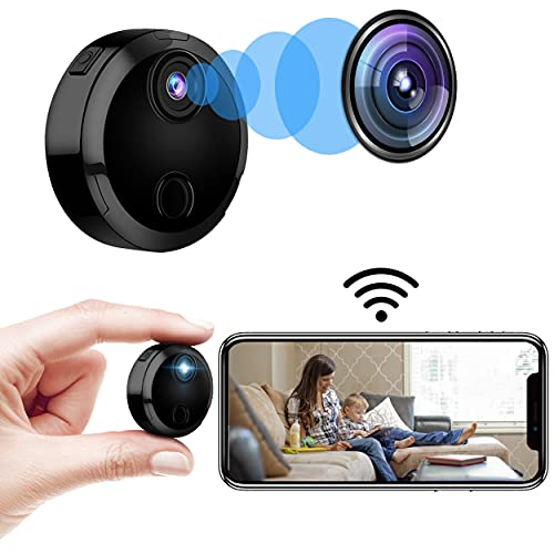Camera Hidden Home with Audio Live Feed WiFi Spy Camera Mini Camera Wireless Nanny Cam Home Security Camera, Night Vision/Motion Detection/Video Record/Remote View/Phone App