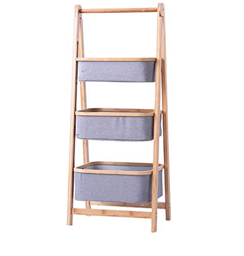 Plegable Estanterías Portable Hogar Metálicade Almacenamiento y Organización Shelves Cocina Especiero,3-Tier-A