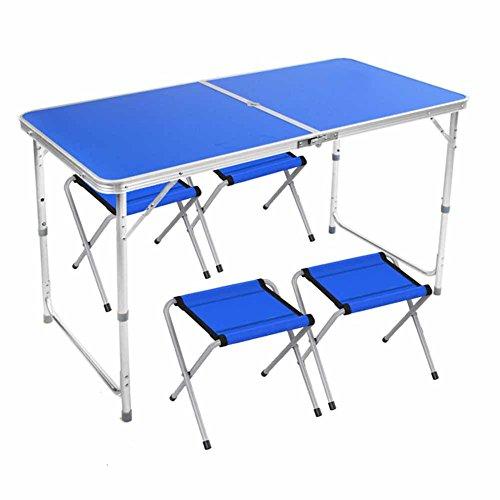 C-J-Xin Alliage d'aluminium Table Pliante et Chaise décrochage Table Bureau Table Barbecue Table de Pique-Nique Tourisme Parapluie extérieur Trou Bordeaux-Rouge Blanc Bleu Jaune Économiser de l'espa