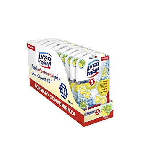 Lysoform Blocchi WC Limone- Formato Convenienza da 9 Pezzi, Più di 315 Risciacqui