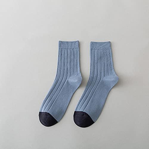 wpapers Calcetines de otoño e Invierno para Hombre, Calcetines de algodón con Tubo, Doble Aguja, Transpirable, Color a Juego, Medias para Hombre-4_Code