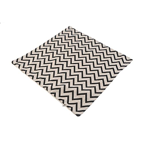 CloverGorge Universal Moda Popular Vintage geometría Zigzag Ondas Cuadrado algodón Lino Tiro sofá cojín hogar Coche decoración