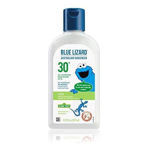 Blue Lizard Kids Mineral-Based Sunscreen – No Oxybenzone, No Octinoxate – SPF 30+ UVA/UVB Protection, 8.75 oz
