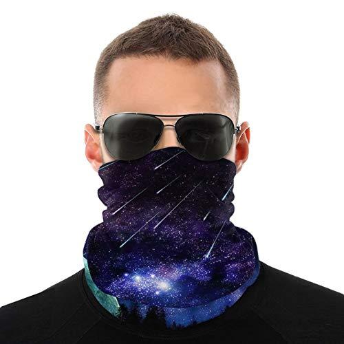 ZVEZVI Pañuelo de cuello unisex de alta definición, redecilla, pasamontañas, calentador de cuello, protección UV/viento, reutilizable, lavable, elástico, transpirable, para yoga, correr, senderismo