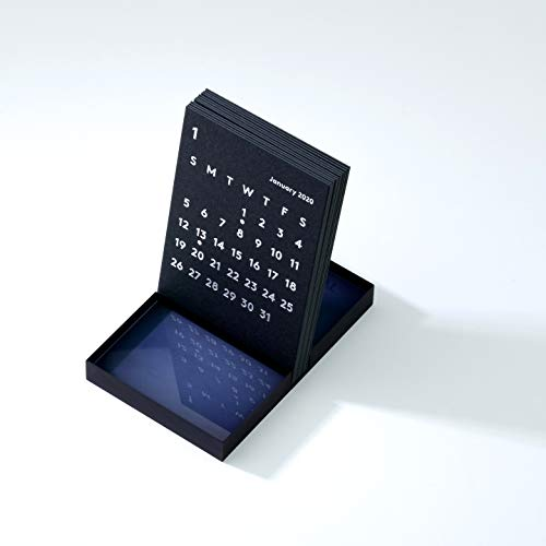 JACKAL クララ デスク カレンダー 2020 ブラック 卓上カレンダー