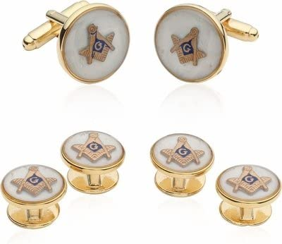Mother of Pearl Cufflinks Online limited product Masonic Formal Set Max 53% OFF Links Cuff