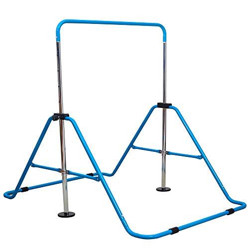RELIANCER Expandable Gymnastics Bars Junior Training Bar Adjustable Height Gymnastic Horizontal Bars Children Folding Training Monkey Bars Child Gym Climbing Tower Kip Balance Bar for Kids Gymnasts