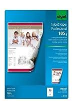 Sigel ip619インクジェット紙、両面コーティング、両面マット、70.9ポンド、a4、75シート