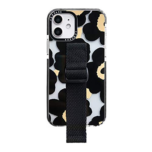 JIE. SXRTLPulsera de Flores Pintada a Mano Original Phone12 Carcasas de teléfono móvil Adecuado para Series de iPhone, Marca de Moda, Titular de la Pulsera,iPhone X MAX