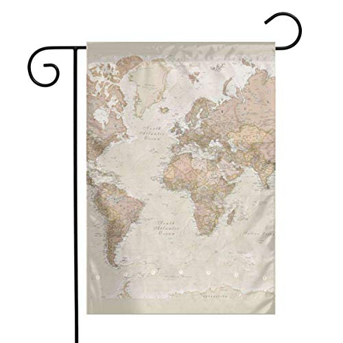N/A Weltkarte Wallpaper einseitig 12 x 18 Zoll