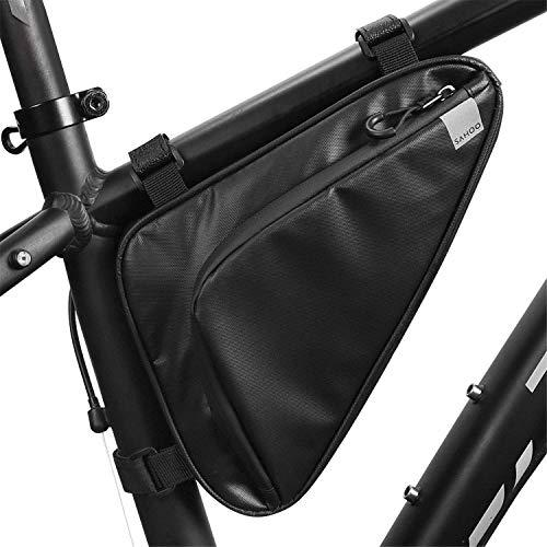 Bolsa de bicicleta para marco de bicicleta, bolsa triangular debajo de la parte superior, bolsa de bicicleta profesional accesorios de ciclismo (1,5 l)