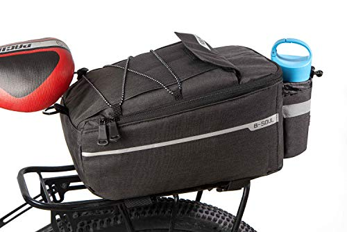 Cycling Bike Rear Rack Bag Insulated Trunk Cooler Bag for Warm or Cold Food,MTB Bicycle Storage Luggage Pannier Bag Big Size Portable Easy Install Rack Bags