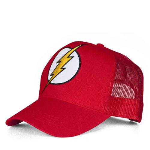 DC Comics DC-Flash-Logo Gorra de béisbol, Rosso, Talla única Unisex Adulto