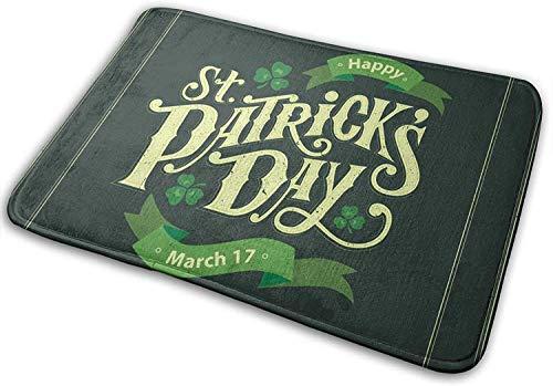 Tapis de salle de bain tapis de bain tapis de porte St Patricks Day vert buffalo mousse à mémoire de forme avant cuisine tapis tapis pour salle de cuisine à l'intérieur extérieur-Stpatricksday26