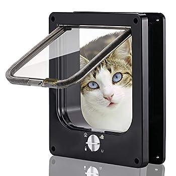 Smilelove Porte magnétique pour Chat avec verrou Rotatif à 4 Voies pour Chats, Chatons et Chatons (L 23.5 * 27 * 5.5 CM)