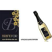 Brindor El Mejor Vino con Láminas de Oro de 22 kilates para Regalar Vino tipo Espumoso sin ser Cava pero con Espectacular presentación Gracias a sus láminas de Oro Botella 750ml