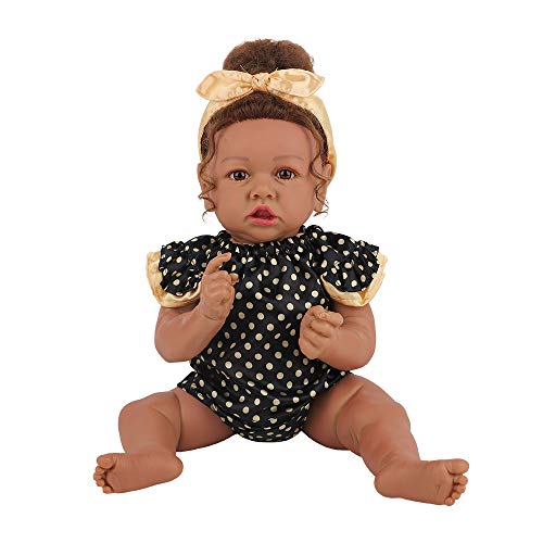 HOOMAI Handmade Reborn Baby Girl Real Life Full Silicone Body 22.8' Realistic Newborn Cute Doll Best Birthday Gift Set for Ages 3+