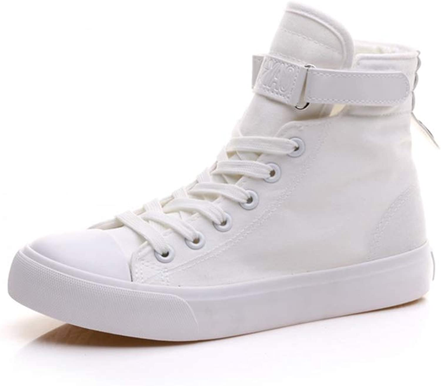 Meimeioo Women's Casual High Top Flat Canvas shoes Fashion Sneakers