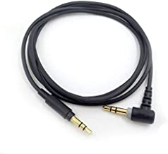 Replacement Headphones Audio Cable Cord Compatible with Sony MDR-10R / MDR-100ABN / MDR-1A / MDR-XB950B1 / MDR-1000X / MDR-1ADAC Headphones - Black