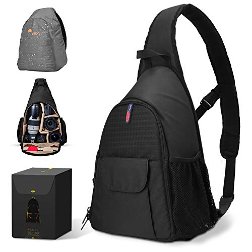 Schulter Kamera Rucksack, Multifunktionaler wasserdichter Kamerarucksack mit verstellbarem Rucksackgurt für Alle Arten von DSLR-Kameragehäusen, Kameraobjektiven, Batterien und anderem Zubehör
