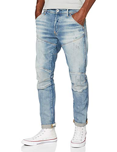 G-STAR RAW Herren Jeans 5620 3D Slim, Antic Faded Lapo Blue Destroyed C052-B819, 28W / 30L