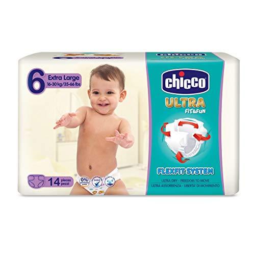 Chicco Ultra Pack Windeln, besonders saugfähig 14 Stück Talla 6 (16-30 kg)