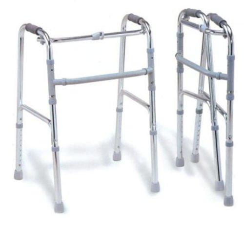 Andador de Aluminio Plegable 4Casquillos para Mayores y discapacitados