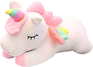 Cute Critters Unicorn Plush Toy Stuffed Animal Cushion Soft Toys for Baby Kids 25cm (White)