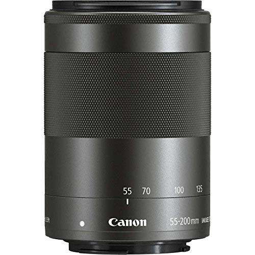 Canon Teleozoombjektiv EF-M 55-200mm F4.5-6.3 IS STM Teleobjektiv für EOS M (52mm Filtergewinde, optischer Bildstabilisator), schwarz