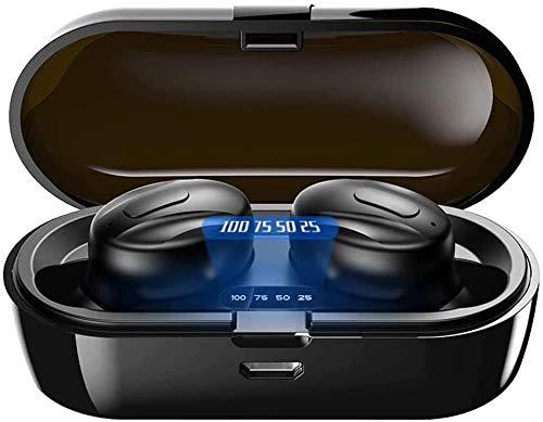 Écouteur sans Fil Bluetooth 5.0, Casque avec réduction de Bruit, écouteurs Sportifs avec IPX8 Écouteurs stéréo étanches, pour iPhone/Android/Samsung/Huawei/Xiaomi/Plupart des Smartphones