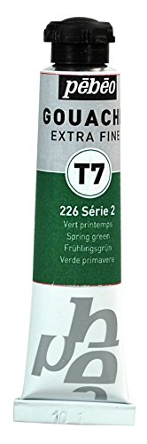 Pébéo Peinture Gouache 1 Tube de 20 ml Vert Printemps
