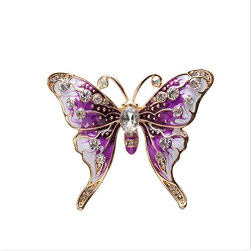 Toporchid Lila Vintage Gemalte Schmetterlings-Brosche-Dame Boutonniere Clothing Accessories