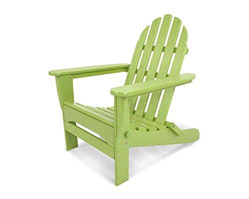 POLYWOOD AD5030LI Classic Folding Adirondack Chair, 29W x 35D x 34H, Lime