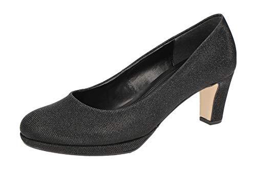 Gabor 21-260 Schuhe Damen Effekt Metallic Plateau Pumps Weite F, Schuhgröße:41, Farbe:Schwarz