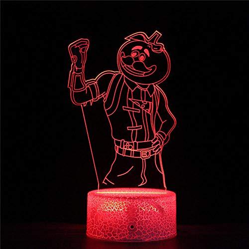 Fortnight Illusion-Nachtlicht 3D, LED-Tisch-Schreibtisch-Lampen Perfekte Geschenke für Kinder und Raumdekor Darth Vader Charaktere