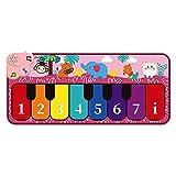 GoRIKI Alfombrilla De Piano para Niños 6 Modos Manta para Tocar Música De Piano para Bebés Portátil Los Niños Juegan Pista De Baile Educativo Alfombrilla para Teclado Infantil para Mayores De 3 Años