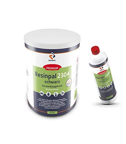 Epoxid Formenbau Gelcoat RESINPAL 2304 | 1 kg Gelcoat + 100 g Härter | Auf Basis Epoxidharz | Schwarz eingefärbt | Kratzfest |