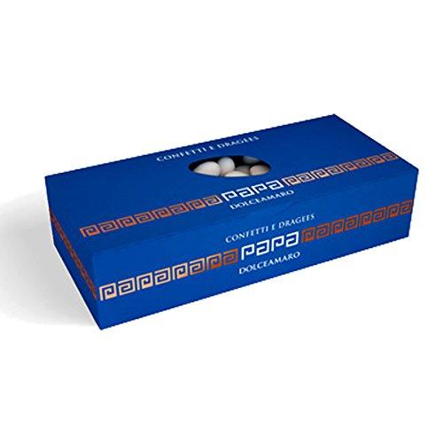 Confetti Bianchi Confettata selezione Mandorla Papa Dolceamaro kg 1 (260 confetti) - Confetti classici bianchi con mandorle selezionate - Certificati Senza Glutine