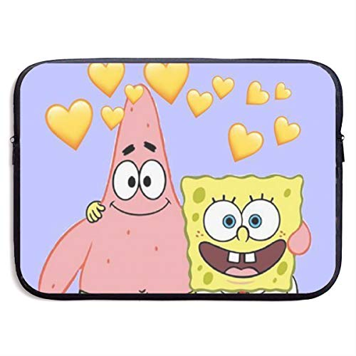 CHLING Spongebob Squarepants and Patrick Laptop Sleeve 13-15 Inch Waterproof Bag Case Briefcase Compatible with MacBook Air/Notebook