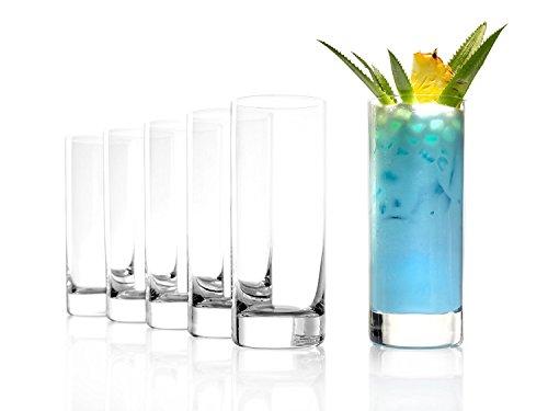 Stölzle Lausitz große Saftgläser, Wassergläser der Serie New York Bar, 380ml, 6er Set, spülmaschinenfest, bleifreies Kristallglas, hochwertige Qualität