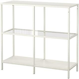 IKEA VITTSJÖ Shelf Unit White Glass 39 3/8X36 5/8