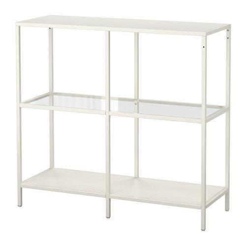 IKEA VITTSJÖ Regal in weiß; aus Glas; (100x93cm)