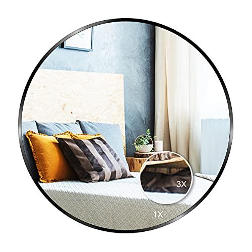 vidaXL Espejo de Pared Redondo Vidrio 60cm Decoración de Interior