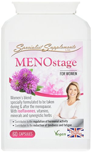 Specialist Supplements MENOstage Herbal Support for Women 60 Capsules