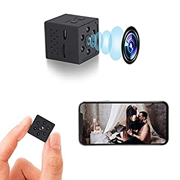 Spy Camera Mini WiFi Hidden Camera with Audio Small Nanny Cam 1080P Wireless Portable Indoor Outdoor Security Camera with Phone App Motion Detection Night Vision,Small Cam 2021 Upgrade