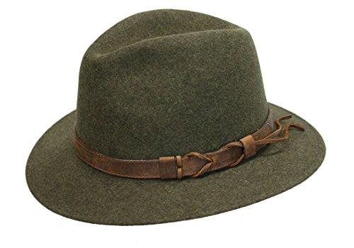Lodenhut Jagdhut Classic Hirschfänger moderner Hut für Damen und Herren (56)