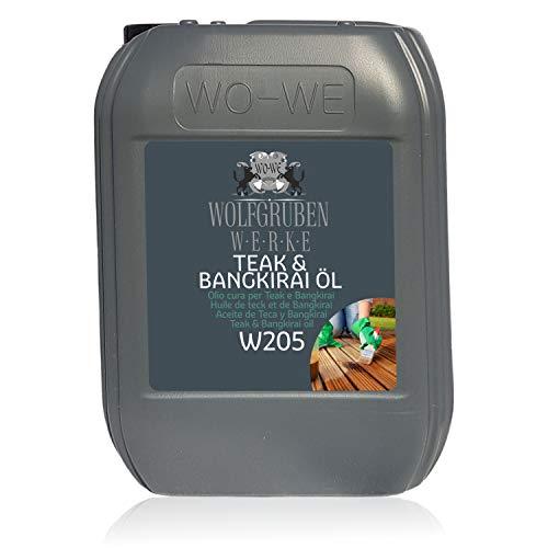 Teak & Bangkirai Pflege Teakholz Bangirai Pflegeöl Holzpflegeöl Holzöl Öl W205-10L