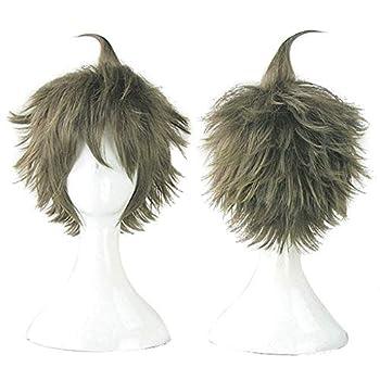 Wcydress Danganronpa V3 Short Hinata Hajime Synthetic Cosplay Hair Wig+One Cap