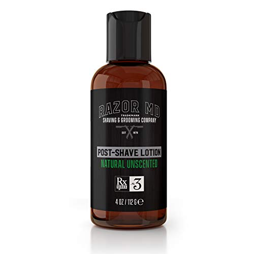 Post-Shave Lotion | Aftershave - Natural Unscented - Paraben Free, All Natural, Made In USA