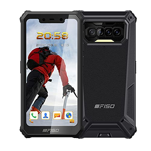 Moviles Resistente 4G,F150 B2021 6GB RAM+64GB ROM(SD128) Android 10 Dual SIM TelefonoMovil,Pantalla HD de 5.86, 8000Amh,Cámaras Delanteras y Traseras 13MP+2MP+2MP(8MP),Teléfono Robusto,NFC-Negro